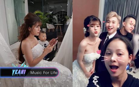 Rò rỉ ảnh cưới cực nhí nhố của vlogger Huy Cung, nhìn ảnh hậu trường đã thấy bà xã đẹp lung linh đúng chuẩn hot girl