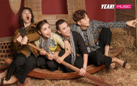 Ngô Kiến Huy, Huỳnh Lập, Quang Trung, Khả Như mặc bà ba chèo xuồng, gánh lúa  du hí miền Tây cùng Việt Nam Tươi Đẹp
