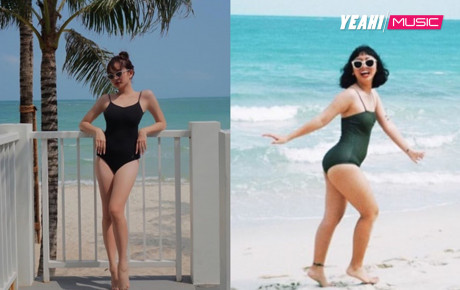 """Diện đồ đi biển đôi, Trang Hý bị chính """"bạn thân"""" Kaity Nguyễn dìm hàng không thương tiếc"""