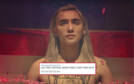 """MV """"Lạc Trôi"""" chính thức cán mốc 200 triệu lượt xem:  Sơn Tùng M-TP địch thị là """"Ông hoàng Youtube""""!"""
