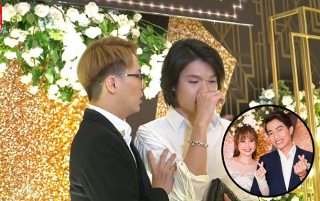 """Quang Trung, Duy Khánh """"khóc hết nước mắt"""" trong đám cưới """"người yêu cũ"""" Cris Phan"""