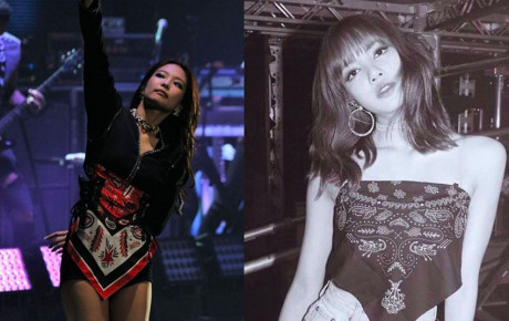 """Góc trùng hợp: Khi chiếc áo yếm """"chất ngất"""" của Lisa thành khăn quấn váy của Jennie"""