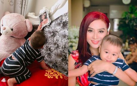 Không còn giấu con trai nữa, Lâm Khánh Chi khoe loạt hình ảnh đáng yêu của quý tử đầu lòng
