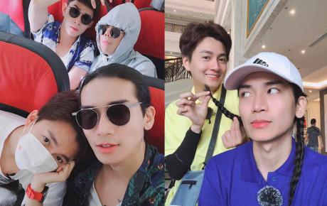 """Hình ảnh """"tình đồng chí"""" thân thiết giữa BB Trần và Ngô Kiến Huy khi tham gia Running Man Việt"""