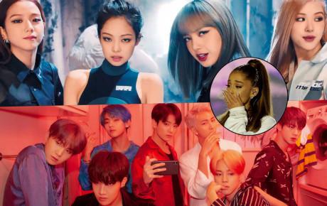 """Blackpink rồi đến BTS tung """"liên hoàn cước"""" không trượt phát nào vào kỉ lục Youtube, hẳn trái tim Ariana cũng biết đau"""