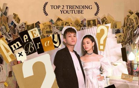 Chỉ sau 2 ngày, MV của tân binh AMEE đã leo top 2 trending Việt Nam, ngay sau Kill This Love của BlackPink