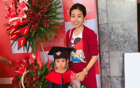 Mai Phương đưa con gái đi dự lễ tốt nghiệp, nữ diễn viên trông tươi tắn và hạnh phúc hơn nhiều