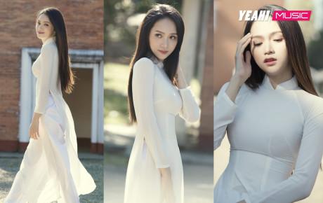 """Sau khi trả thù bạn thân, Hương Giang bất ngờ tung bộ ảnh áo dài trắng đẹp như """"thần tiên tỉ tỉ"""""""