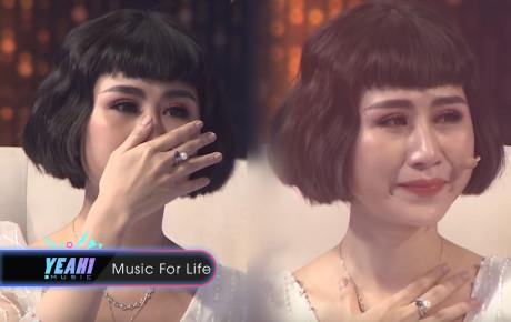 """""""Sầu nữ PM.Band"""" Tuệ Phương khóc cạn nước mắt kể về người đàn ông bội bạc trên sóng truyền hình"""