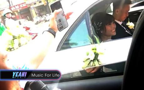 """Clip: Thanh niên chạy theo xe hoa ca bài """"Vợ người ta"""" khiến cô dâu, chú rể bối rối ra mặt"""