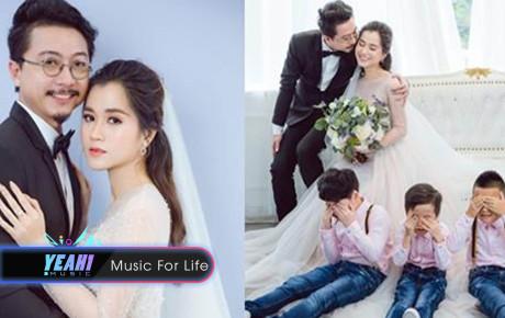 Lâm Vỹ Dạ tung bộ ảnh kỉ niệm 8 năm ngày cưới xinh đẹp như cô dâu, lộ diện thêm thành viên thứ 5
