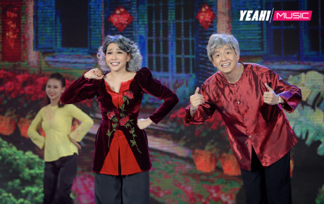 Sau giải Mai Vàng, Khả Như kết hợp đi hát cùng Ngô Kiến Huy hóa ông bà già nhảy múa tưng bừng