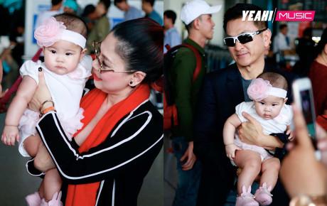 Thanh Thảo cùng ông xã Việt kiều đưa con gái về quê đón Tết