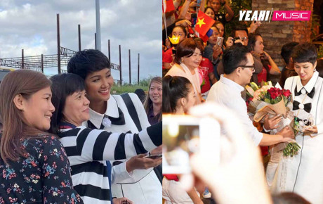 H'Hen Niê đi sự kiện ở nước ngoài: Fan quốc tế vây quanh, học sinh vẫy cờ Việt Nam