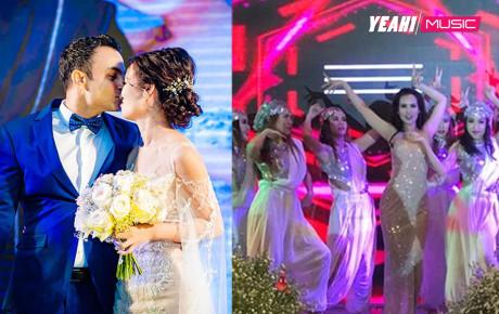 Vợ chồng nữ ca sĩ Võ Hạ Trâm cùng nhau hát tiếng Ấn cực hay trong đám cưới cổ tích
