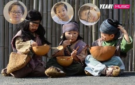 """CĐM """"trụy tim"""" khi ngược về quá khứ xem 3 nhóc tì Daehan - Minguk - Manse đóng phim cổ trang cùng bố"""