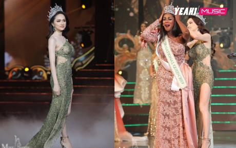 Quá xinh đẹp, Hương Giang lấn át tân Hoa hậu chuyển giới người Mỹ trong khoảnh khắc trao vương miện