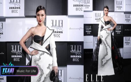 Hoàng Oanh nhận giải ''Best Dress Of The Night'' khi mang bản đồ Việt Nam lên sân khấu ELLE