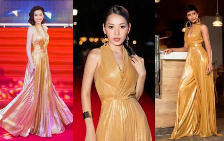"""""""Đụng"""" váy của H'Hen Niê - Đỗ Mỹ Linh nhưng thần thái của Chi Pu không đùa được đâu"""