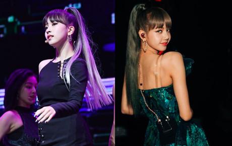 """Cũng để mái bằng, tóc đuôi ngựa như Lisa nhưng Mina (Twice) lại thua """"đối thủ"""" ở 1 điểm"""