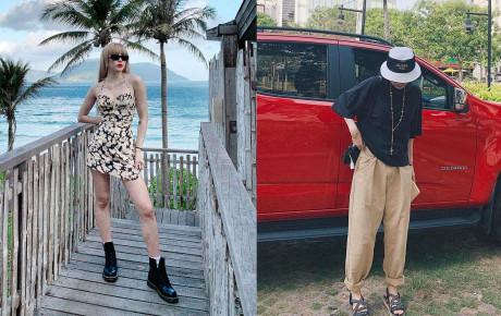 Chị em nhà Thiều Bảo Trang - Thiều Bảo Trâm khoe street style đối nghịch: Em gợi cảm hết cỡ - chị hiphop chất lừ