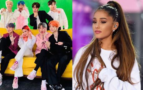 """Không chỉ vượt view Youtube, Ariana Grande cũng phải """"chào thua"""" BTS ở lĩnh vực tưởng chừng là lãnh địa bất khả xâm phạm của """"sao"""" US UK"""