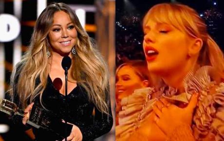 Khoảnh khắc fangirl thần thánh của Taylor Swift khi idol Mariah Carey lên nhận giải: Làm ơn hãy chú ý tới em đi!