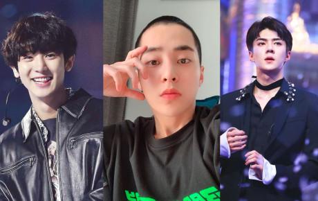 Dậy sóng trước hình anh cả Xiumin cạo đầu để mai nhập ngũ, nhưng bình luận của loạt thành viên EXO mới gây chú ý