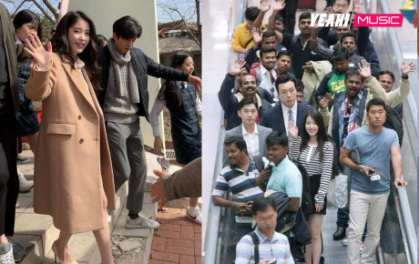 """Fan đón IU nhưng khách nước ngoài tưởng dân Hàn hiếu khách nên nhiệt tình vẫy tay """"đáp lễ"""""""