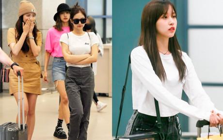 BLACKPINK đụng độ TWICE: Jennie lộ diện với biểu cảm tươi rói, dàn mỹ nhân YG đọ chân siêu dài bên đối thủ nhà JYP