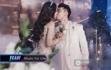 Ưng Hoàng Phúc khoá môi Kim Cương vô cùng ngọt ngào trong đám cưới