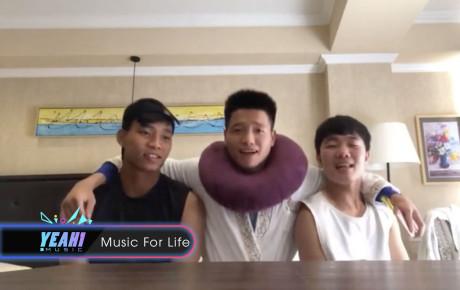 """Bộ ba tuyển thủ Xuân Trường, Văn Thanh và Phí Minh Long cover """"Một nhà"""" cực đáng yêu"""
