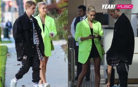 """Hậu tuyên bố ngừng ca hát: Justin Bieber căng thẳng, """"mặt như đưa đám"""" ra phố cùng vợ"""