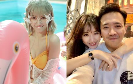 """Hari Won diện bikini gợi cảm đóng MV mới, Trấn Thành """"tạt gáo nước lạnh"""": """"Yêu quái phương nào đây?"""""""