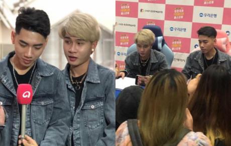 """Jack và K-ICM diện đồ đôi siêu dễ thương, được khán giả tại Hàn """"đột kích"""" chỉ để trò chuyện vài phút"""