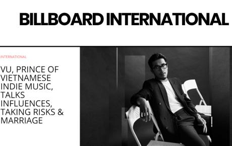 """""""Hoàng tử indie"""" Vũ xuất hiện trên tạp chí Billboard"""