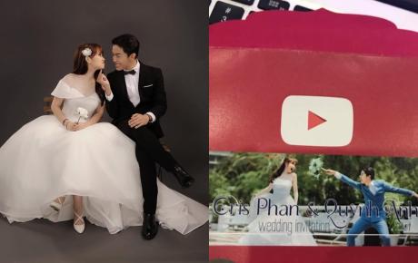 Hé lộ thiệp cưới độc đáo đậm chất YouTuber của Cris Phan và hot girl Mai Quỳnh Anh