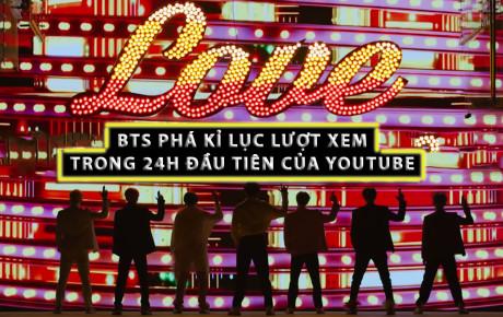BTS phá kỷ lục lượt view trong 24 giờ đầu trên YouTube của BLACKPINK