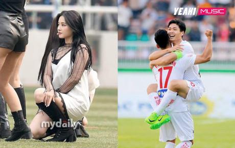 """""""Thiên thần lai"""" Nancy trình diễn trong trận đầu tiên của Công Phượng ở giải K-League 2019"""