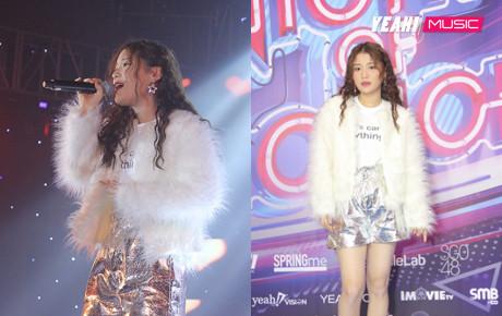 """Han Sara, Hà Nhi, Yến Lê, Xesi, Lip B """"đốt cháy"""" sân khấu đêm Yeah1 Year End Party"""
