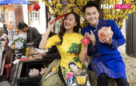Ngắm bộ ảnh Tết tràn ngập niềm vui, năng lượng của Nam Cường và Hà Thúy Anh